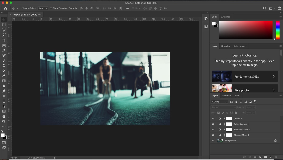 How to create a lut in photoshow