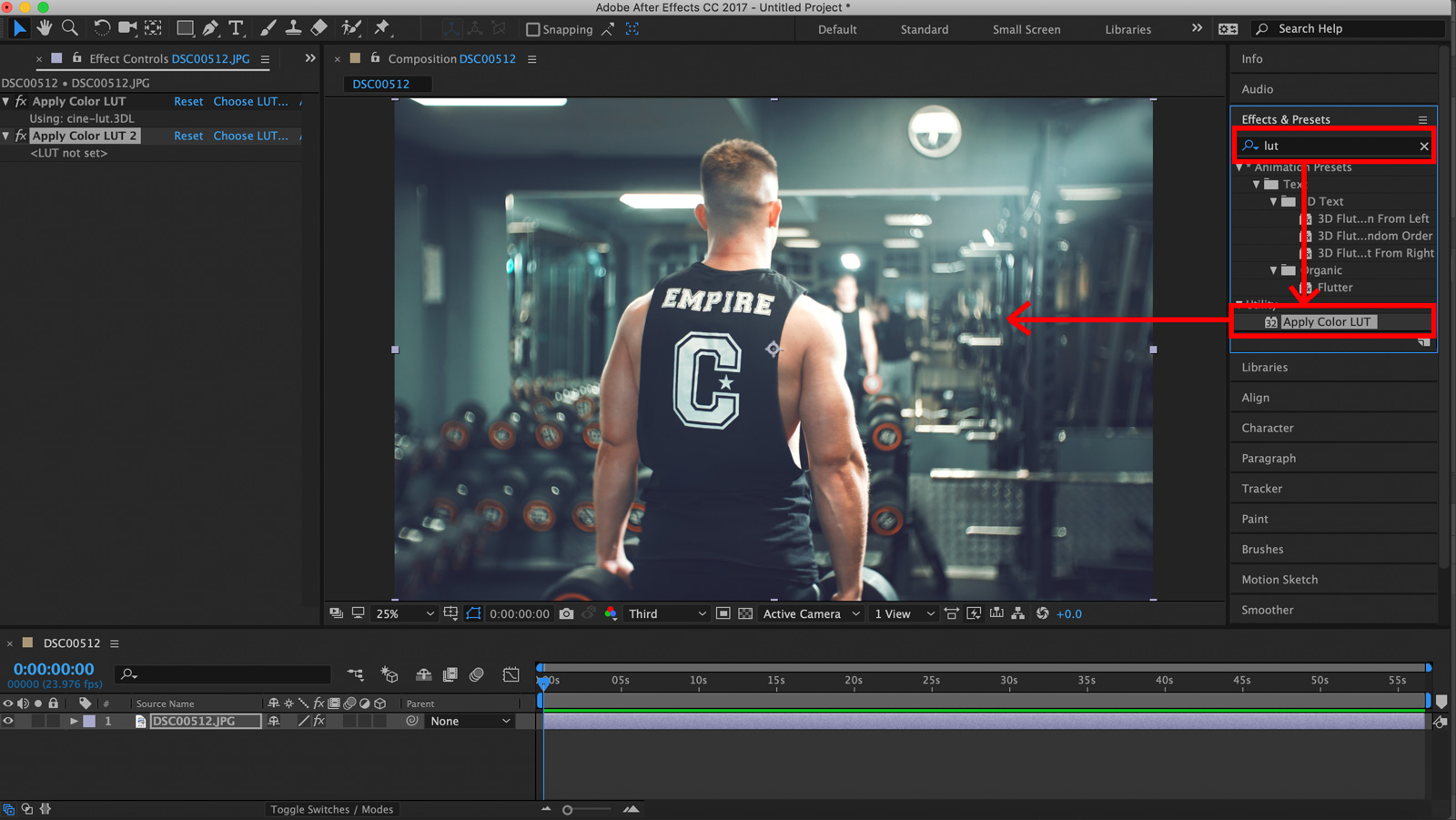How to use lut preset packs in After Effects