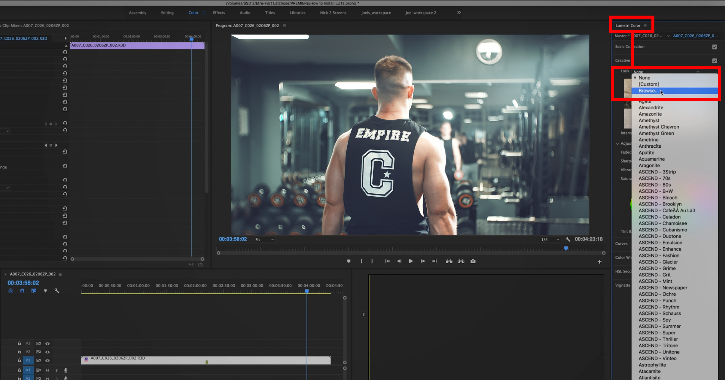 How to use lut preset packs in Premiere Pro